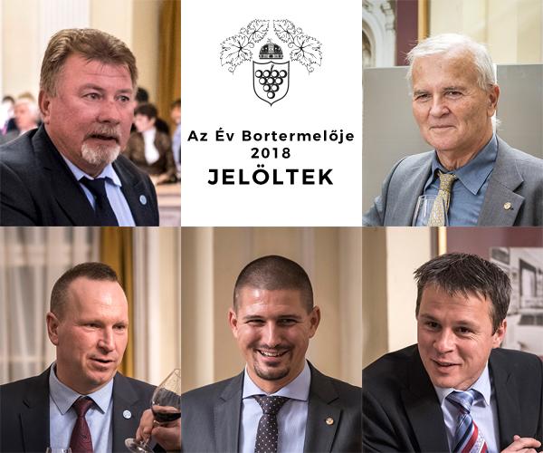 Az Év bortermelője 2018 jelöltjei