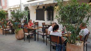 Fonda halvacsora a Park étteremben, a szlovéniai  Piránban
